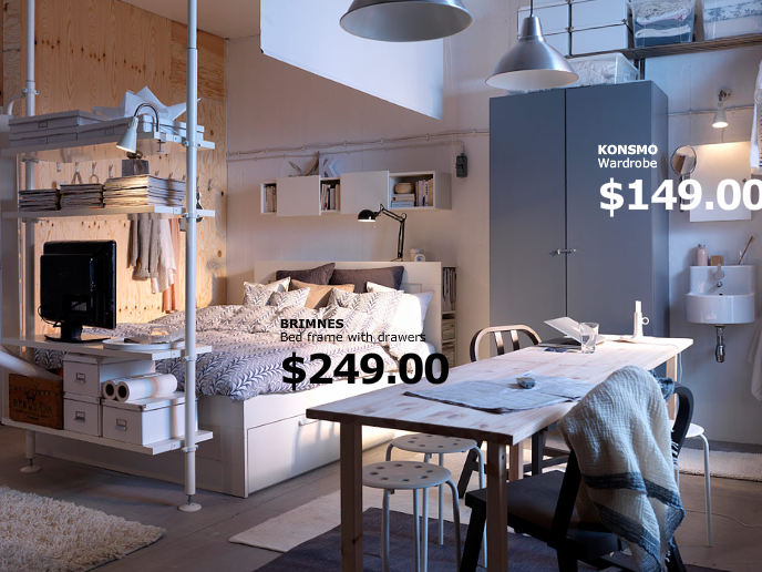 Studio Apartment, Anyone? Ikea Home Inspiration « House To Home